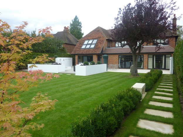 Back Garden Soft Landscaping - Beaconsfield